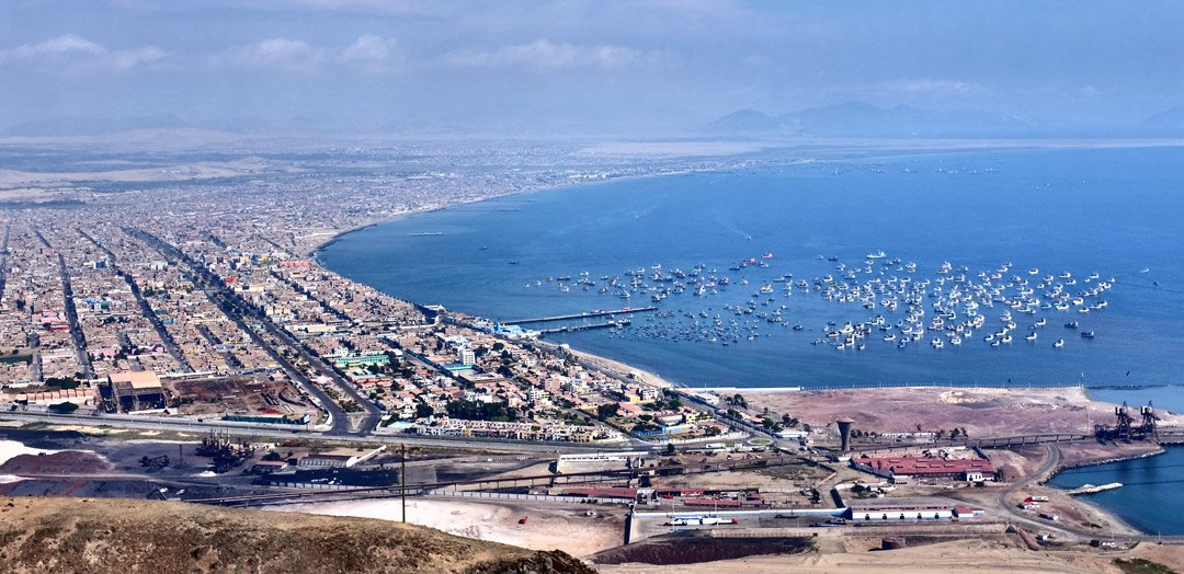 Aerial view of Chimbote
